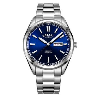 Rotary Henley Men's Stainless Steel Bracelet Watch - Product number 3235378