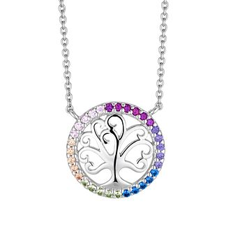Silver Multicoloured CZ Tree Of Life Pendant - Product number 3235580