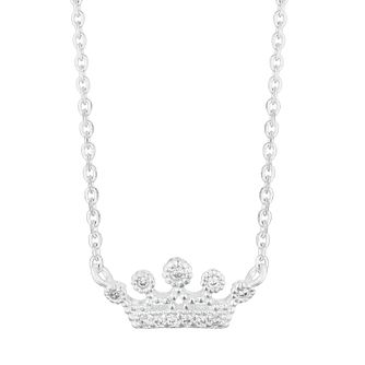 Silver Cubic Zirconia Crown Necklace - Product number 3235734