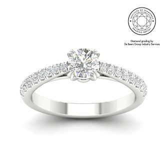18ct White Gold & Platinum 3/4ct Diamond Solitaire Ring - Product number 3240630