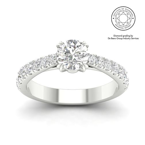 18ct White Gold & Platinum 1.5ct Diamond Solitaire Ring - Product number 3243907