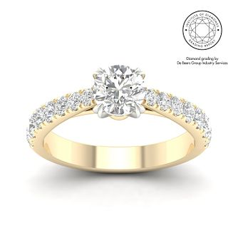 18ct Yellow Gold & Platinum 1.5ct Diamond Solitaire Ring - Product number 3244369