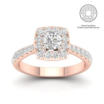 18ct Rose Gold & Platinum 1ct Diamond Solitaire Ring - Product number 3246205