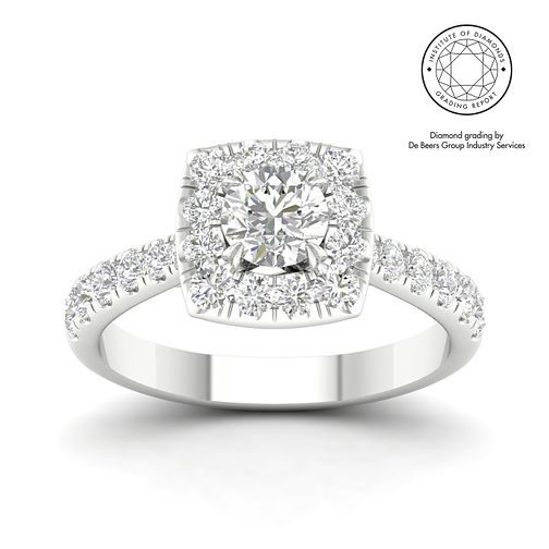 18ct White Gold & Platinum 1.5ct Diamond Solitaire Ring - Product number 3248119