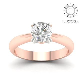 18ct Rose Gold Platinum 1.5ct Diamond Solitaire Ring - Product number 3251616
