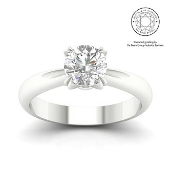 18ct White Gold Platinum 1.5ct Diamond Solitaire Ring - Product number 3252019