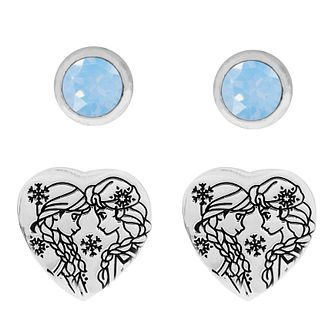 Disney Children's Frozen Silver Anna & Elsa Earring Set - Product number 3260828