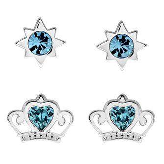 Disney Children's Cinderella Silver & Crystal Earring Set - Product number 3260844