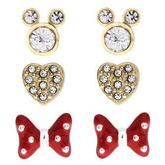 Disney Children's Minnie Mouse Silver & Crystal Earring Set - Product number 3260852