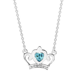 Disney Children's Cinderella Silver & Crystal Crown Necklace - Product number 3260887