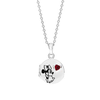 Disney Children's Minnie Mouse Crystal Round Locket - Product number 3260917