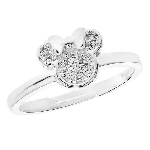 Disney Kid's Minnie Mouse Adjustable Silver Crystal Ring - Product number 3260925