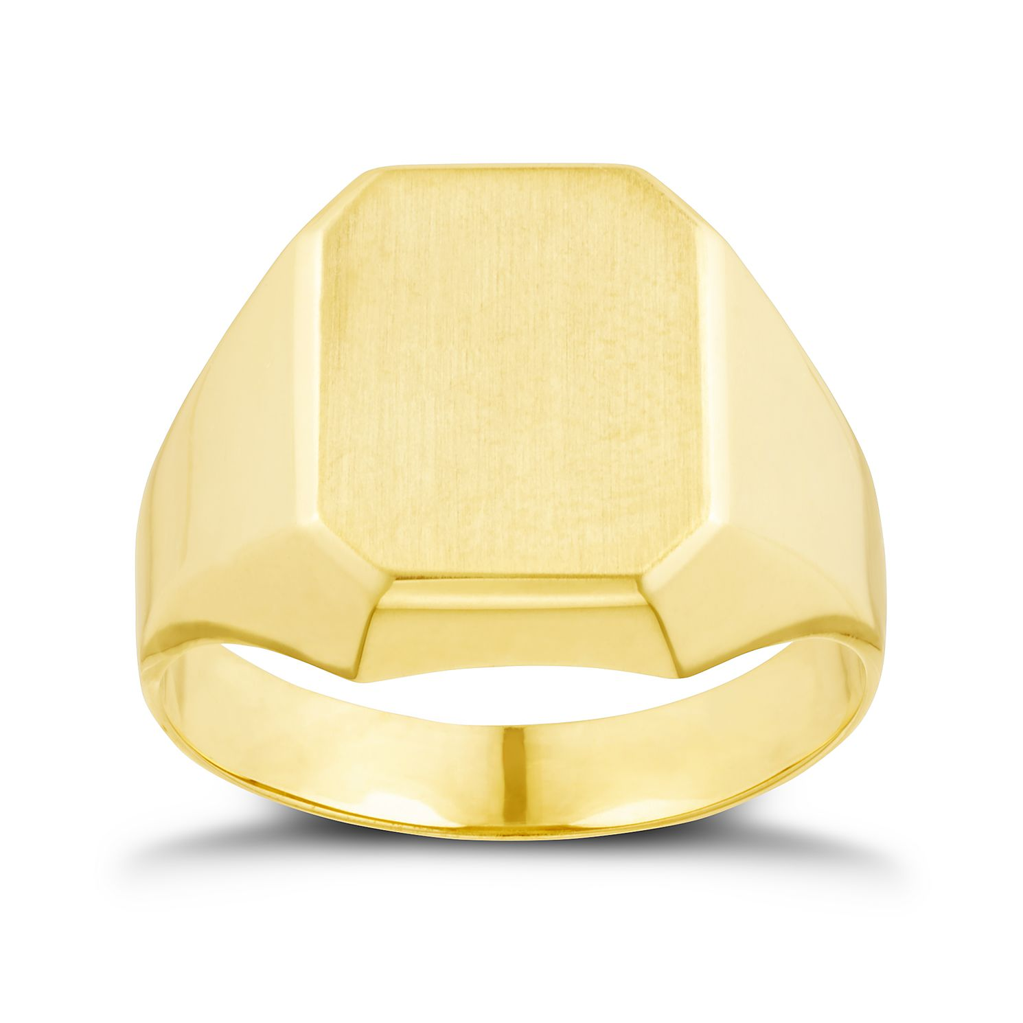 9ct Yellow Gold Plain Rectangle Ring - Product number 3261468