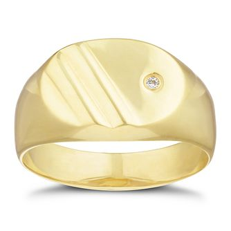 9ct Yellow Gold Diamond Oval Ring - Product number 3261832