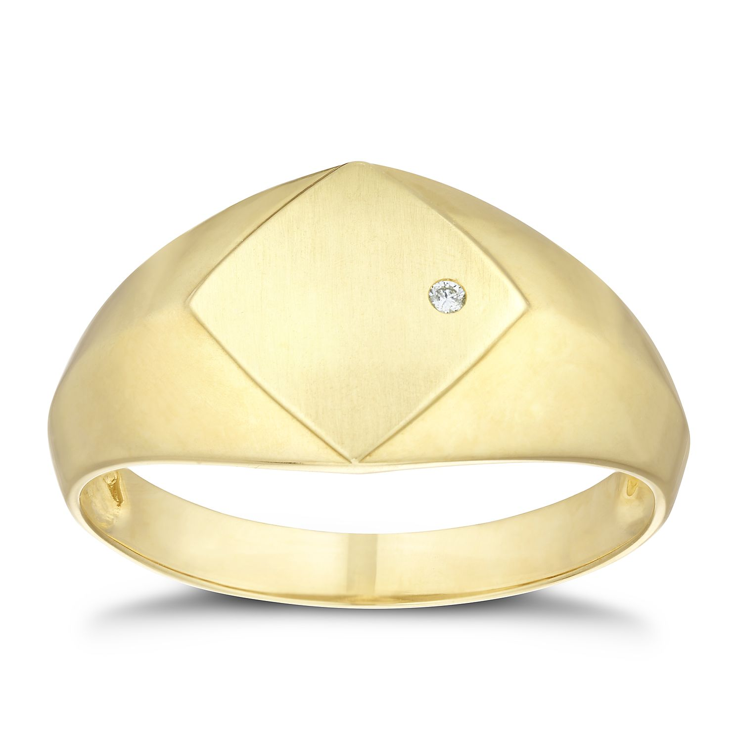 9ct Yellow Gold Diamond Ring - Product number 3262278