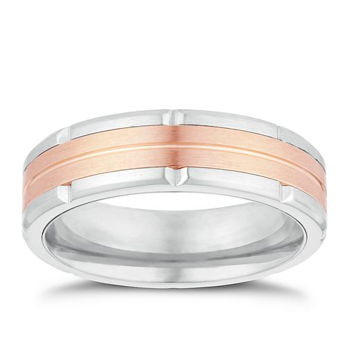 Titanium Two Two Ridged Ring - Product number 3262928