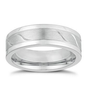 271988c958a Titanium 7mm Matt   Polished Wave Ring - Product number 3265641