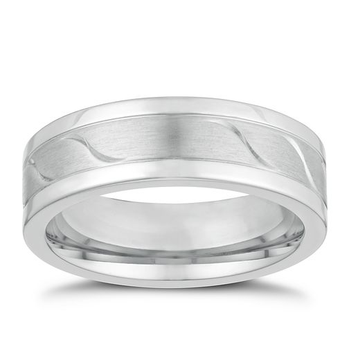 Titanium 7mm Matt & Polished Wave Ring - Product number 3265641