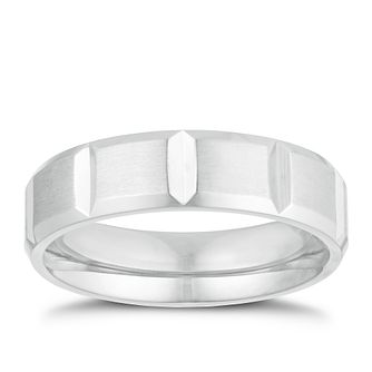 Titanium 6mm Square Ridge Ring - Product number 3266559