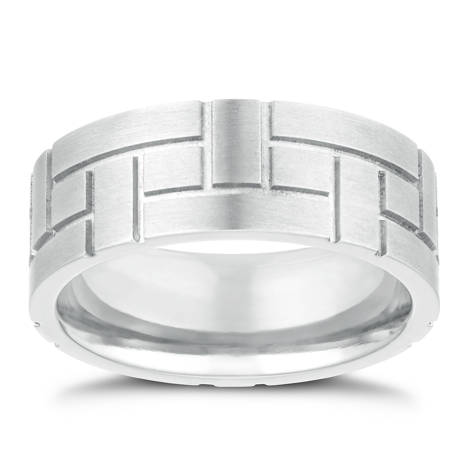 Titanium 8mm Woven Design Ring - Product number 3267008