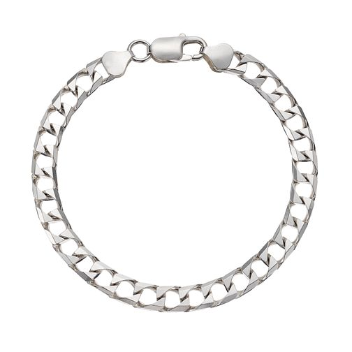 Silver 925 Fancy Square Link Bracelet - Product number 3271188