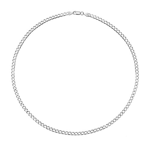 "Sterling Silver 20"" Flat Curb Chain Necklace - Product number 3271196"
