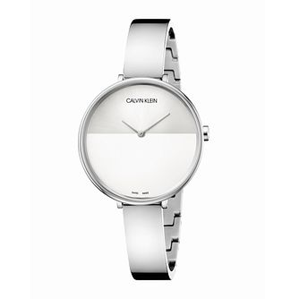 Calvin Klein Rise Ladies' Stainless Steel Bangle Watch - Product number 3272400