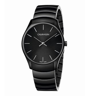 Calvin Klein Men's Black IP Bracelet Watch 38mm - Product number 3272494