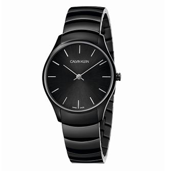 Calvin Klein Men's Black IP Bracelet Watch 32mm - Product number 3272508