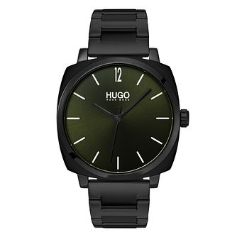 HUGO OWN Men's Black IP Stainless Steel Bracelet Watch - Product number 3273237
