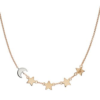 Emporio Armani Gold Tone Astrology Star & Moon Necklace - Product number 3273385