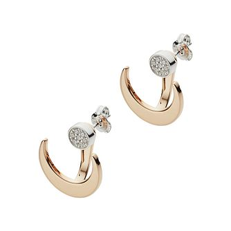 Emporio Armani Rose Gold Tone Astrology Moon Stud Earrings - Product number 3273407