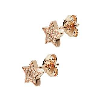 Emporio Armani Rose Gold Tone Cz Star Stud Earrings - Product number 3273415