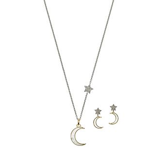 Emporio Armani Astrology Drop Earrings & Necklace Gift Set - Product number 3273431