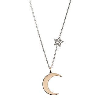 Emporio Armani Silver Astrology Moon Necklace - Product number 3273458