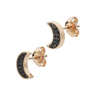 Emporio Armani Astrology & Magic Black Crystal Moon Earrings - Product number 3274004