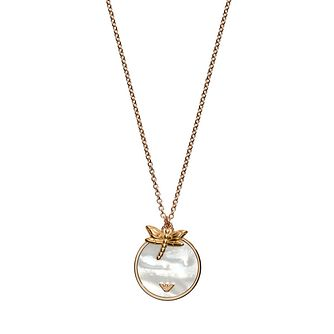 Emporio Armani Rose Gold Tone Mother Of Pearl Necklace - Product number 3274055