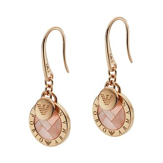 Emporio Armani Lyrd Rose Gold tone Disc Drop Earrings - Product number 3274098