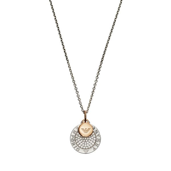 Emporio Armani Lyrd Silver Disc Pendant - Product number 3274195