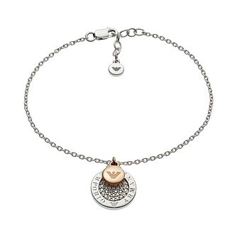 c6a09c3c7a0145 Emporio Armani Lyrd Silver Disc Drop Bracelet - Product number 3274217