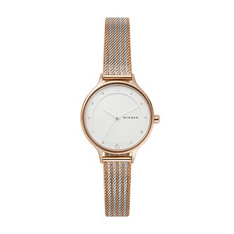 Skagen Anita Ladies' Two-Tone Ripple-Mesh Bracelet Watch - Product number 3275914