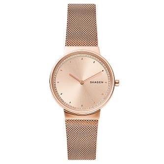 Skagen Annelie Ladies' Rose Gold Tone Mesh Bracelet Watch - Product number 3275930