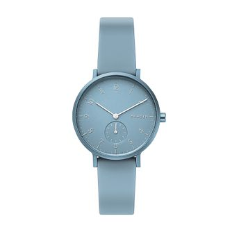 Skagen Aaren Kulør Unisex Light Blue Silicone Strap Watch - Product number 3275957