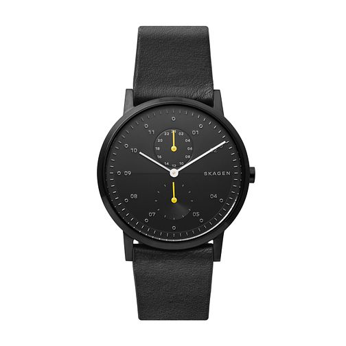 Skagen Men's Kristoffer Black Leather Strap Watch - Product number 3275981