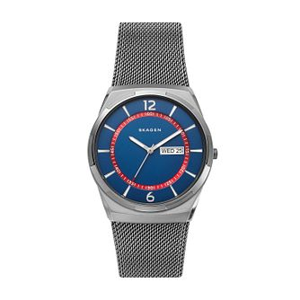 Skagen Melbye Men's Gunmetal Steel Mesh Bracelet Watch - Product number 3276015