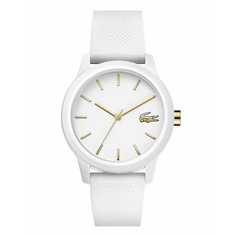 Lacoste 12.12 Ladies' White Silicone Strap Watch - Product number 3276260