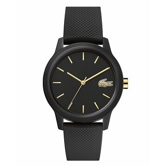 Lacoste 12.12 Ladies' Black Silicone Strap Watch - Product number 3276279