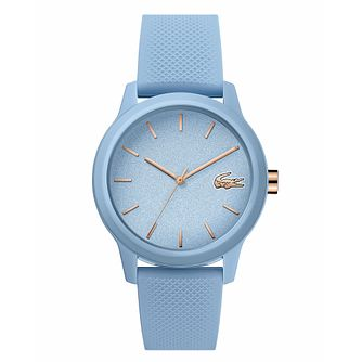 Lacoste 12.12 Ladies' Light Blue Silicone Strap Watch - Product number 3276317