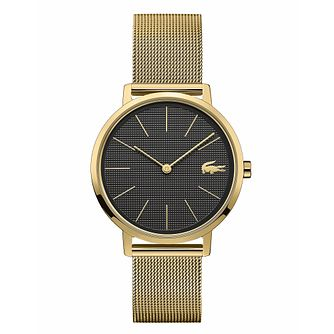 Lacoste Ladies' Gold Ion-Plated Mesh Bracelet Watch - Product number 3276392