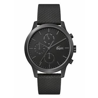 Lacoste 12.12 Men's Black Silicone Strap Watch - Product number 3276422
